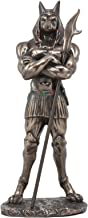 Ebros Ancient Egyptian Deity God Anubis With War Staff Statue Contemporary Egyptian Decor Sculpture God Of Afterlife And Mummification
