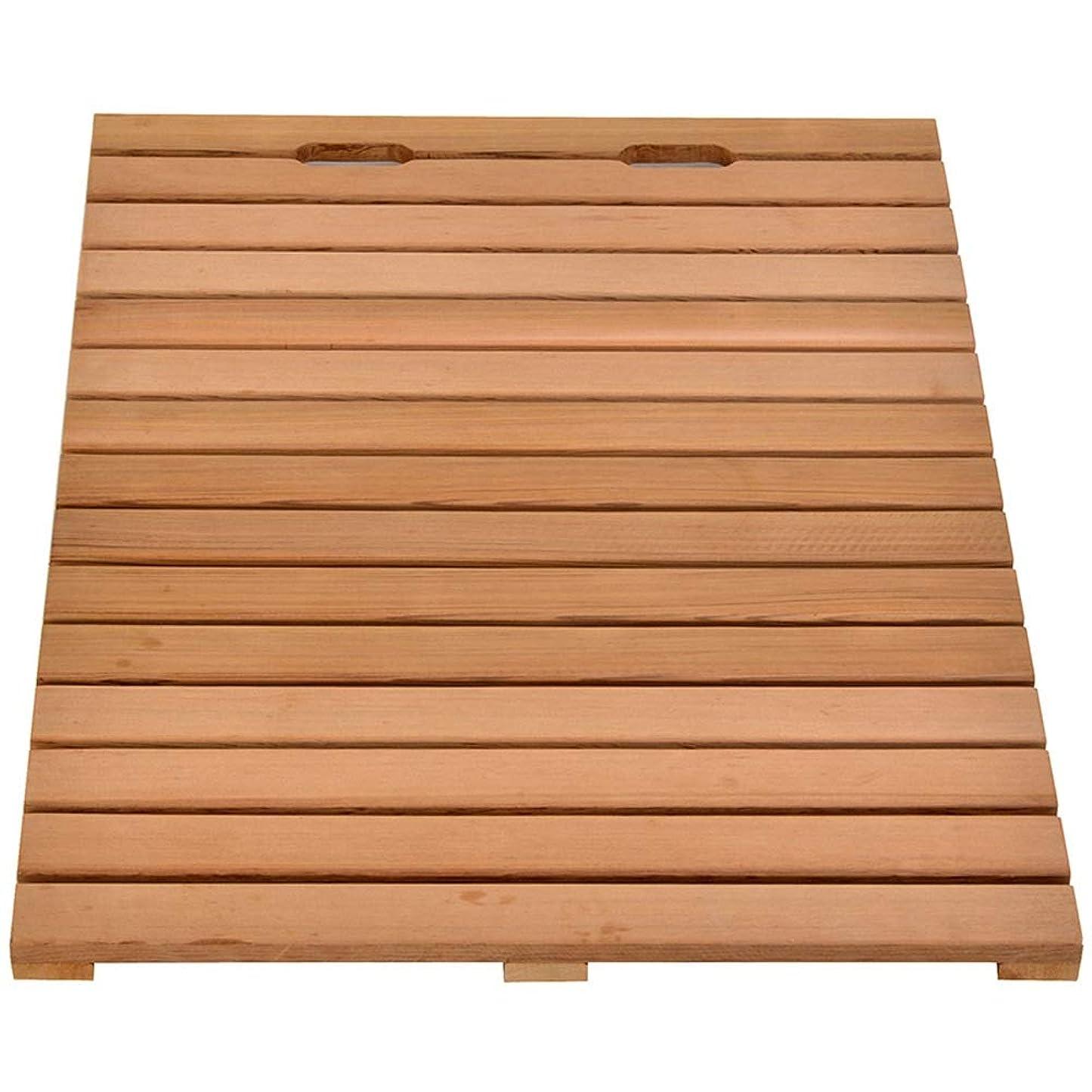 ローン浸漬三角厚手のバスルームマット厚手のカーペット赤杉木製の床ドアパッドバルコニーマット滑り止め防腐剤 (Size : 90x90cm)