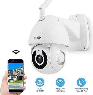 FREDI HD 1080P Ptz Cámara de Vigilancia Videocámara de Vigilancia WiFi Exterior con Detección de Movimiento IP65 Cámara IP Cámara Inalámbrica IP CAM Inalámbrico
