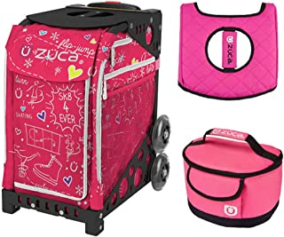 Zuca Sport Bag - Sk8 Pink with Gift Hot Pink/Black Seat Cover and Pink Lunchbox(Pink Frame)