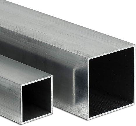 auf Zuschnitt L: 450mm 45cm Aluminium Rechteckrohr AW-6060-100x20x2mm