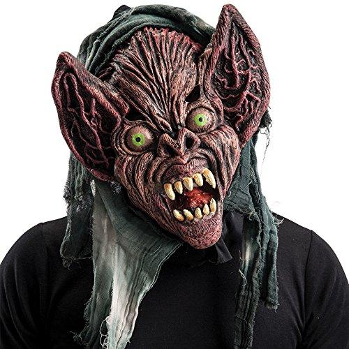 Carnival Toys - Máscara de goma Eva monstruo extraterrestre con capucha en bolsa con encabezado, multicolor (744)