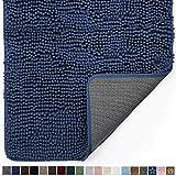 Gorilla Grip Original Indoor Durable Chenille Doormat, Large, 36x24, Absorbent, Machine Washable Inside Mats, Low-Profile Rug Doormats for Entry, Back Door, Mud Room, High Traffic Areas, Navy Blue
