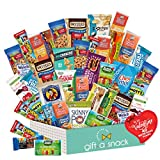 Valentines Day Candy Gift Basket for Kids Healthy Snack Box Variety Pack (40 Count) - College Student Care Package, Natural Food Bars Nut Fruit, Nutritious Chips - Birthday Treat for Her, Him, Adults