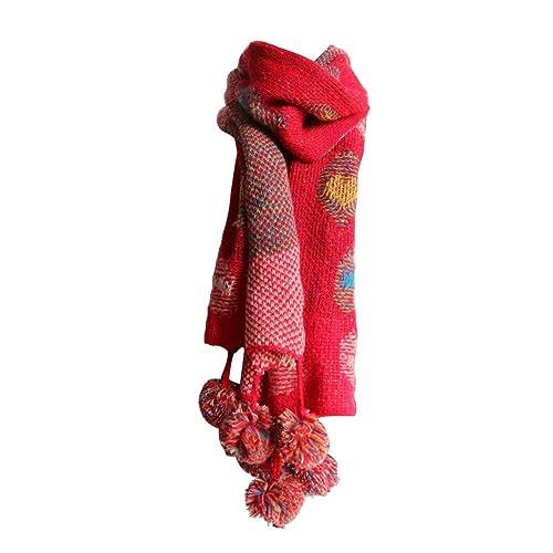 24a3690c2 PB-SOAR Women's Ladies Winter Warm Knitted Scarf with Pom Pom 180 x 38cm