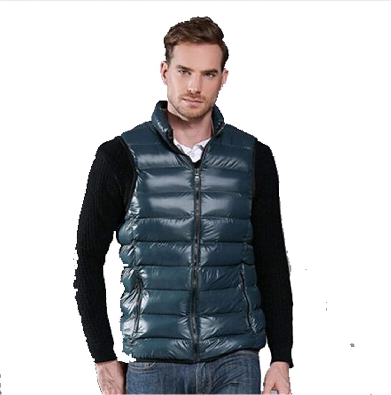 Snhpk Men's Cotton Vest Outerwear Gilets Coat Softshell Jacket, Winter Thicken Warm Windproof Overcoat Waistcoat,009,5XL