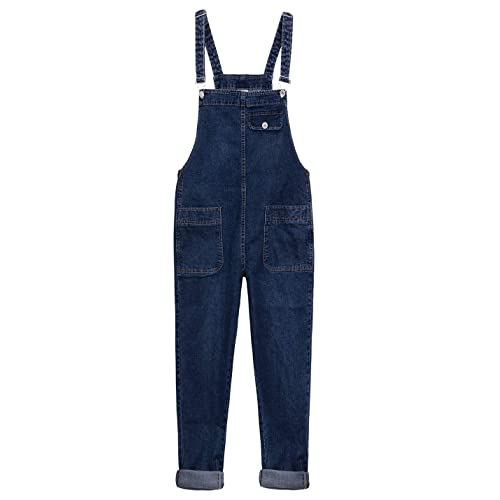 16b18853921e Yeokou Women s Casual Denim Bib Cropped Overalls Pant Jeans Jumpsuits