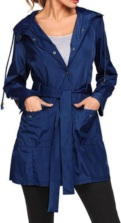 Raincoat Jacket Women Mountain Waterproof Max 59% OFF Trench trend rank Coa Long Hooded
