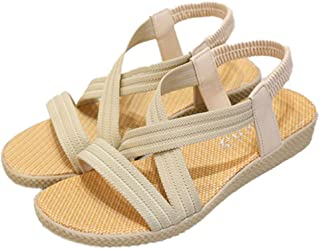 WenHong Women's Wedge Sandal Casual Sandal
