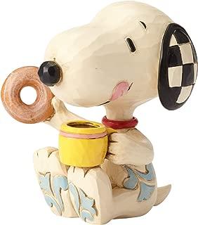 Enesco Jim Shore Peanuts Snoopy Donuts and Coffee Miniature Figurine, 3 Inch, Multicolor