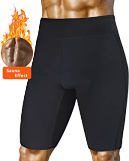 A AGROSTE Men's Weight Loss Sauna Hot Sweat Thermo Shorts Body Shaper Neoprene Athletic Yoga Pants Gym Tummy Fat Burner Slimming Sport Pant