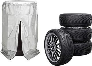 VTIUA Blue Lion Polyester Universal Dust-Proof Borse per Pneumatici Exclusive Borsa Copriruota 14 15 16 17 Pollici Ruota Wheel Bag