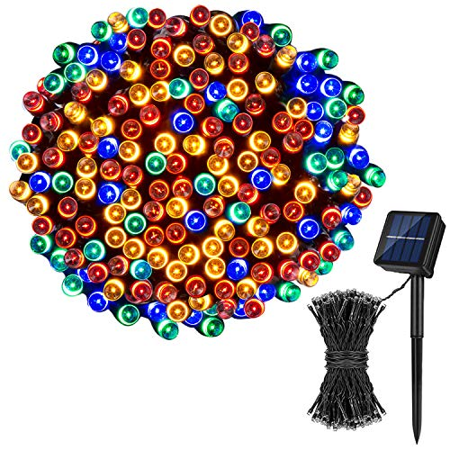 Koxly Solar Christmas String Lights,72FT 200 LED 8 Modes Solar Powered Christmas Lights Outdoor String Lights Waterproof Fairy Lights for Garden Party Wedding Xmas Tree