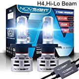 NIGHTEYE LED Headlights 360°Extremely Bright, H4/9003/HB2 Automotive Headlight Bulbs Replacement-60W 10000LM 6500K Cool White LED-with TX-CSP LED Chips,IP68 Water Restsant