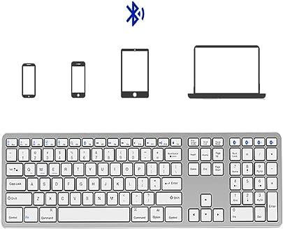 Meteor fire Universelle  schlanke  tragbare  drahtlose Tastatur  tragbare  ger te bergreifende 109-Tasten-Standard-Bluetooth-Tastatur mit DREI Tasten  f r Laptop Smartphone Tablet usw