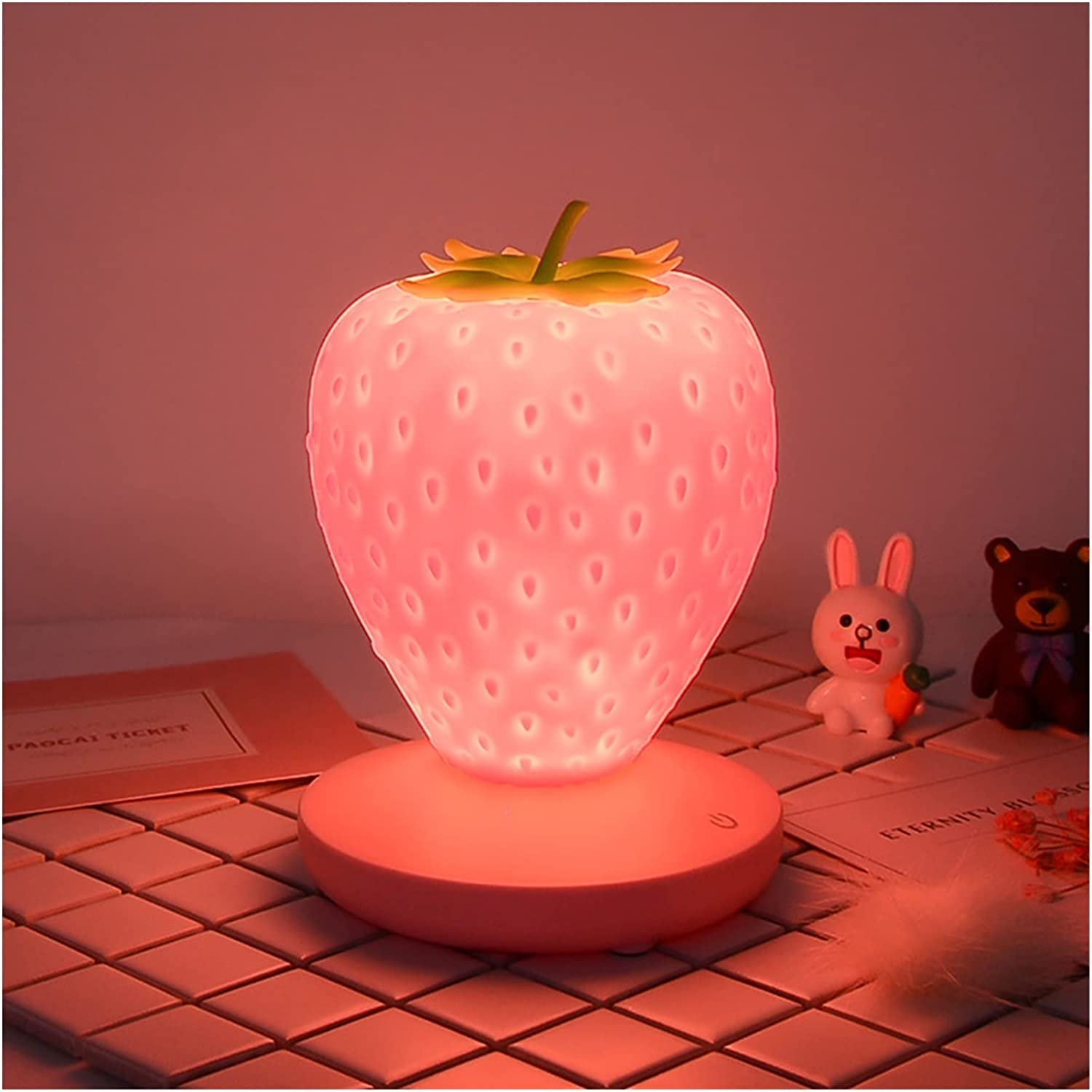 Excellent QIAONAI OIR724 LED Strawberry Night Light USB Jacksonville Mall B Lamp Table Touch