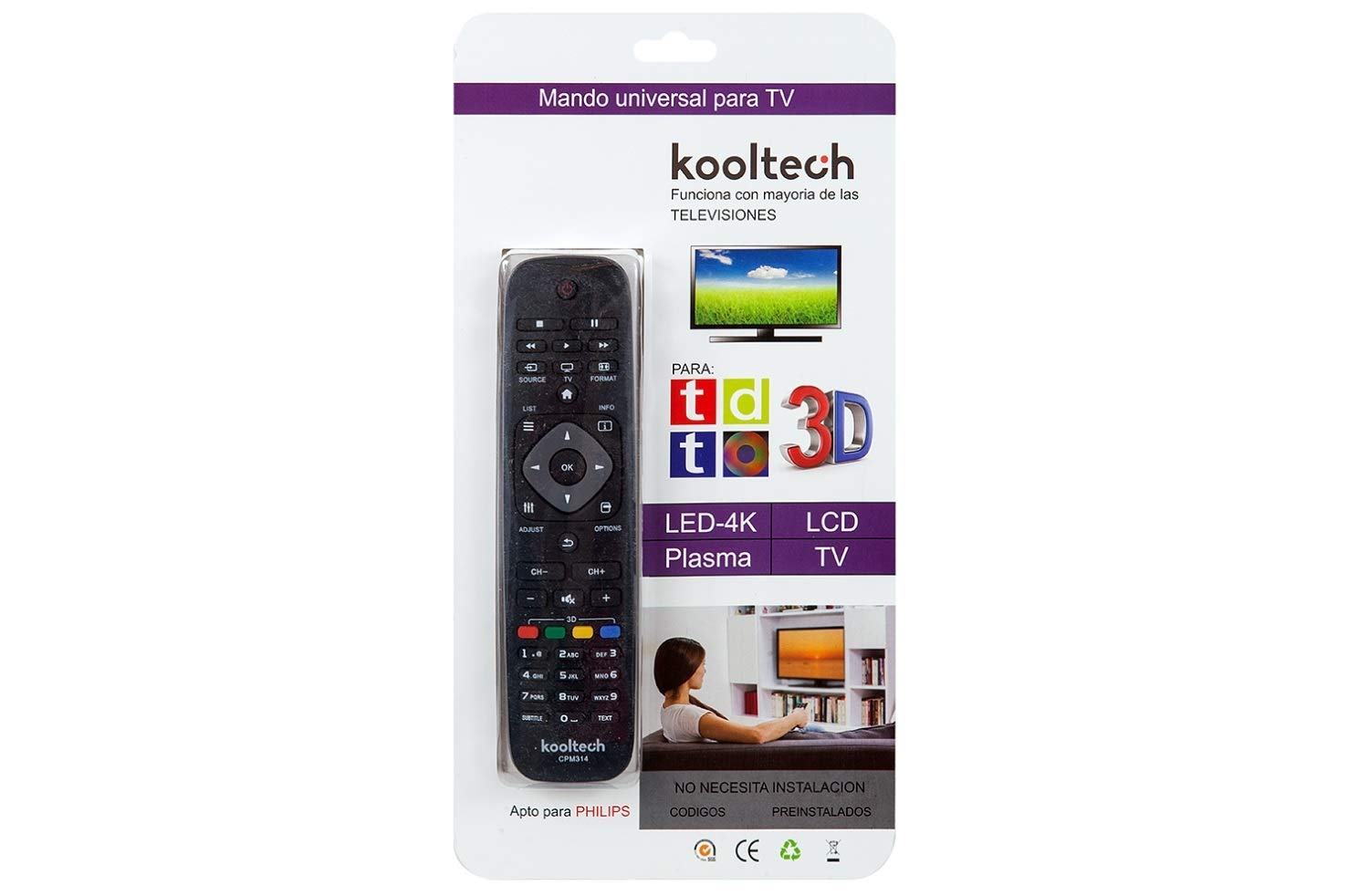 Kooltech 017225 Mando Universal Philips/100: Amazon.es: Electrónica