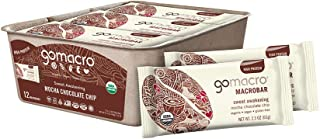 GoMacro MacroBar Organic Vegan Protein Bars - Mocha Chocolate Chip (2.3 Ounce Bars, 12 Count)