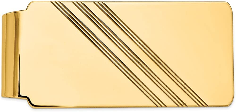 Solid 14k Manufacturer OFFicial shop Raleigh Mall Yellow Gold Men's Slim Mon Credit Card Business Holder