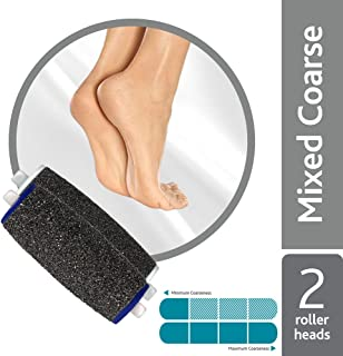 Amope Pedi Perfect Electronic Foot File Mixed Refills, 2 Count, Regular & Extra Coarse