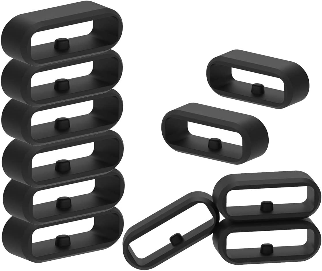 Replacement Rings Compatible with Garmin Approach S40 Band Keepers Soft Silicone Fastener Rings Security Loop (Pack of 10)