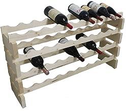 DisplayGifts Magnum 1500 ml Bottle Stackable Modular Wine Rack Storage Stand Wooden Holder Shelves, WN50 (Natural Wood)