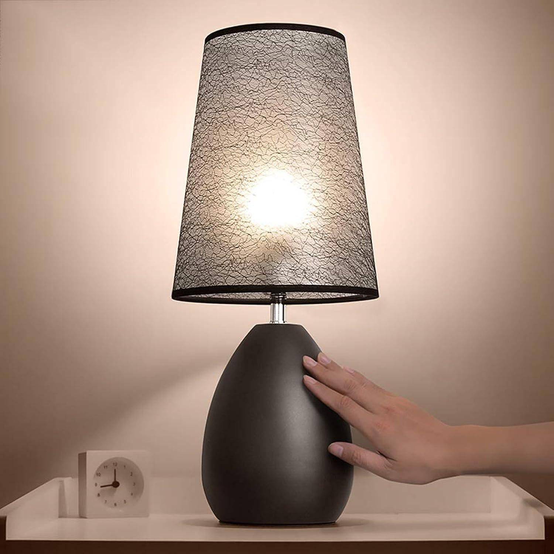 TD Schlafzimmer-Nachttisch-Knopf-Schalter-weies und schwarzes kreatives Retro Nachttisch-Gegenlicht
