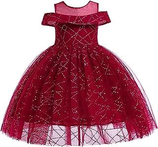 ガールズウェディングドレス ガールズスカートペチコートワンピーススカートガーゼスカート子供ドレス 誕生日イブニングボールガウン (色 : 赤, サイズ : 100cm)