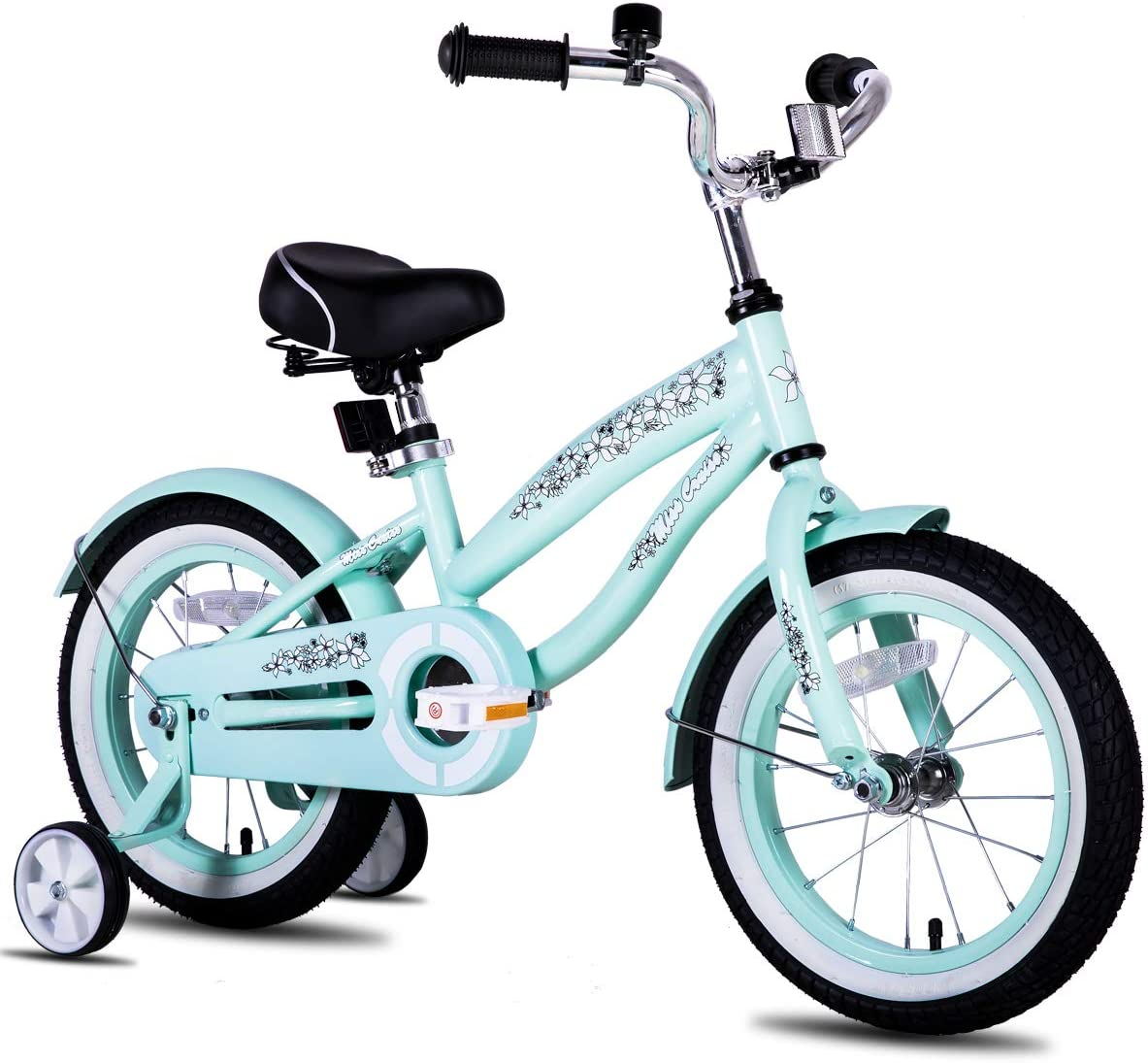 """JOYSTAR 12"""" 14"""" 16"""" Kids Cruiser Bike with Training Wheels for Ages 2-7 Years Old Girls & Boys, Toddler Kids Bicycle"""