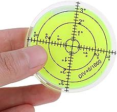 1 قطعة فقاعة مستوى جولة مستوى الروح الفقاعة 60 × 12 مم دائرية Bullseye فقاعة درجة سطح علامة لمستوى الكاميرا التموضع ترايبو...