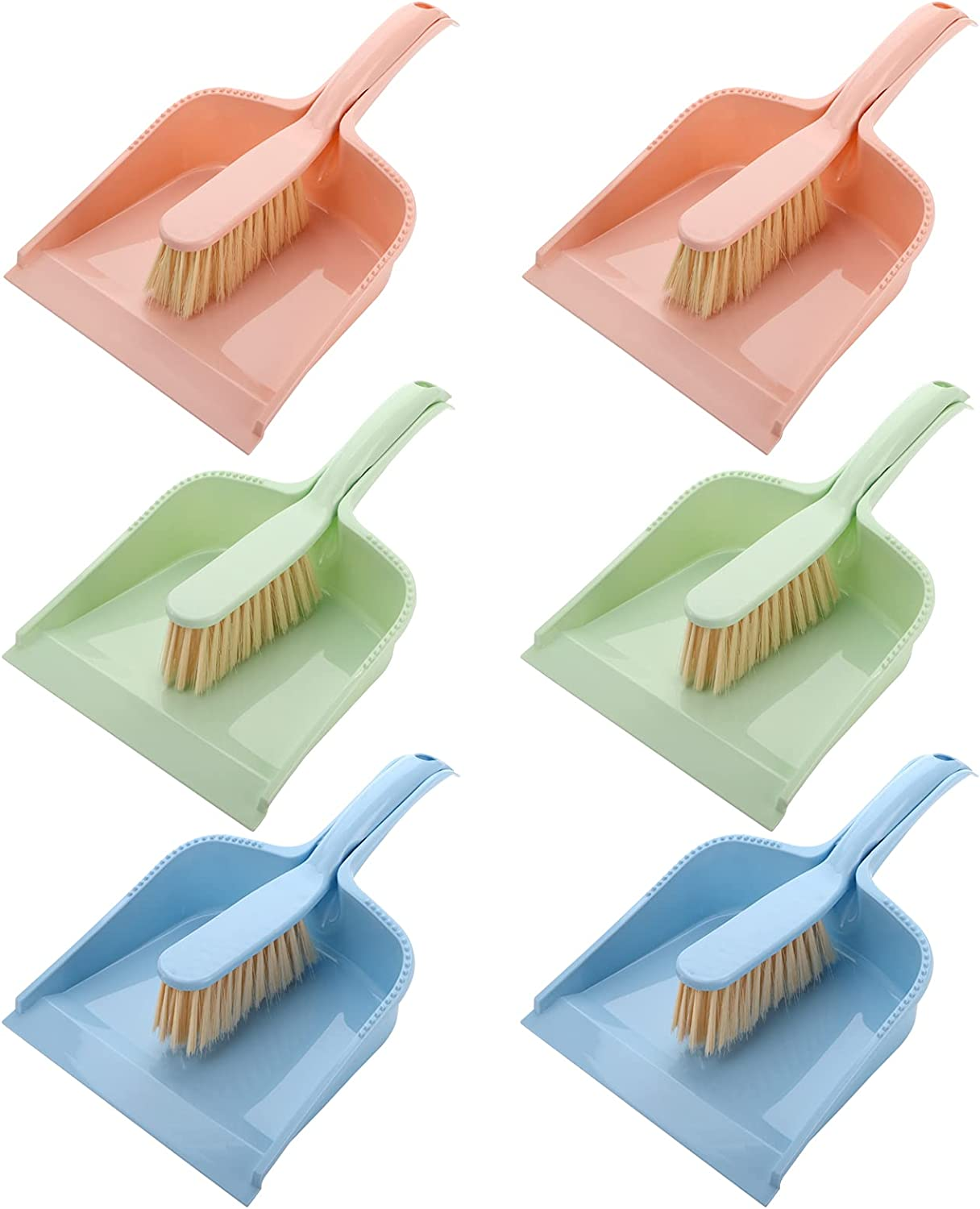 Cedilis online shop 6 Pack Deluxe Dustpan and Brush Set Portable Small Broom D