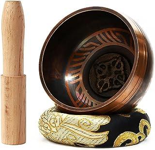 Juego de cuencos tibetanos de 7,8 cm – con mazo y cojín de seda – Cuenco de meditación perfecta para yoga y curación de ch...