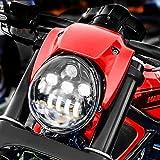 Eagle Lights V-Rod LED Projection Headlight for Harley Davidson Motorcycle 2002-2016 V-Rod models (Black)
