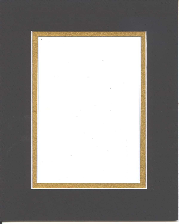 16x20 Black Gold Double Picture Mat for Max 90% OFF Excellent 11x14 Cut Bevel Pictur