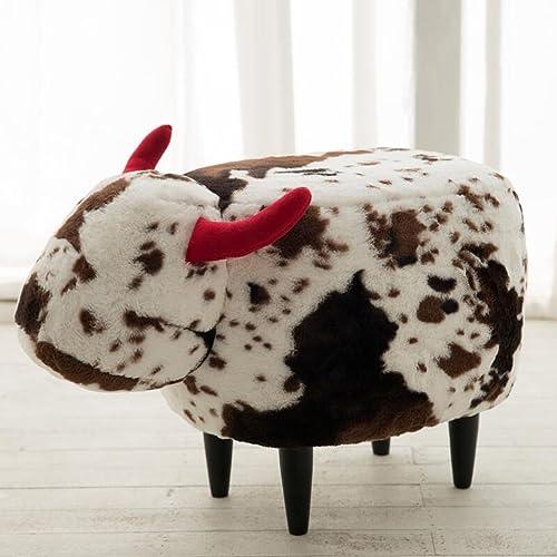 ahorra hasta un 80% Silla Rollsnownow Taburete Taburete Taburete de Almacenamiento del escabel del Estilo de la Vaca del ángulo de la Vaca del ángulo blanco y negro cambian el Taburete del sofá de la Taburete del Zapato  con 60% de descuento