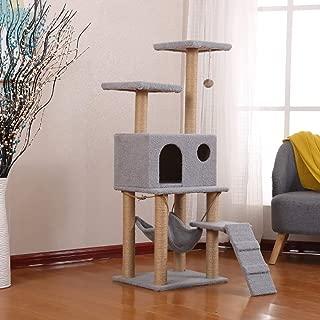 SZGS Cat Tree Tower Condo Furniture -Lamb Velvet cat Litter Multi-Layer Wooden cat Climbing Frame cat Litter cat Tree cat Scratching cat cat Jumping Platform,As a Gift