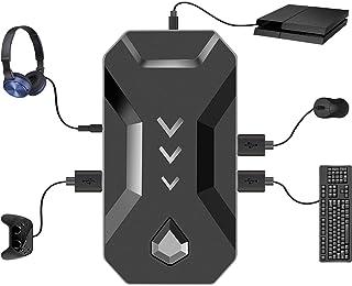 コンバーターps4 マウス キーボード コントローラー ヘッドセット 接続アダプター 遅延なし Nintendo Switch/XBOXONE/PS4/PS3対応 OTGアダプター付き