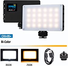 VILTROX LED On Camera Video Light, Portable Mini 8W/720LM CRI95+ Bi-Color 2500K-8500K Rechargeable Built-in Lithium Battery Professional Photography Lamp for Shooting YouTube Vlog Filming