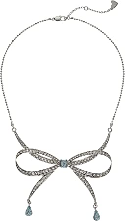 Betsey Johnson Blue by Betsey Johnson La La Bow Necklace