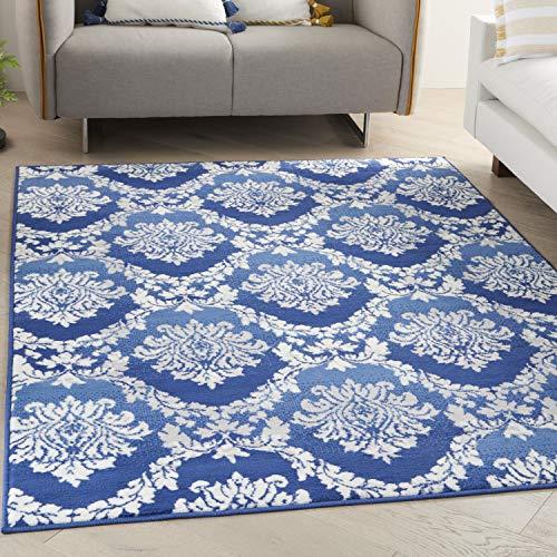 Nourison Whimsicle Floral Bohemian Blue 6' x 9' Area Rug , 6' x 9'