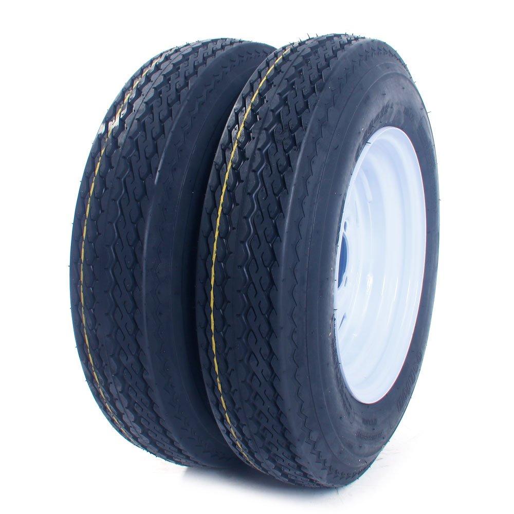 MILLION PARTS 2 Tralier Tires /& Rims 4.80-8 480-8 4.80 X 8 8 B 5 Lug Hole Bolt P819 Wheel White Spoke