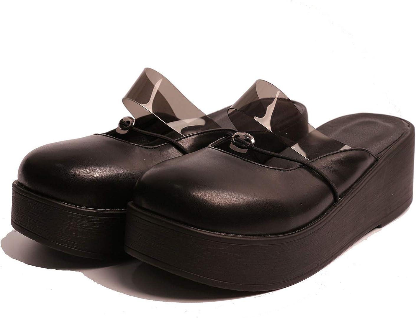 heelchic Women Slip On Lolita Platform Sandals Summmer Casual Walking Soft Slide Sandals