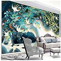 Wkxzz 壁の背景装飾画 ミニマルな手描きイラスト水彩スタイルテレビ背景壁紙カスタム壁画壁紙-350X250Cm