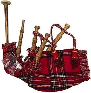 Innes & Cromb Scottish Junior Playable Red Tartan Bagpipes
