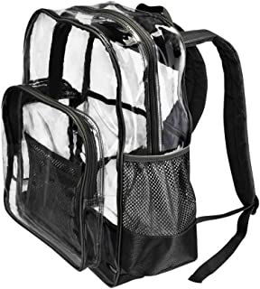 """Large Clear Transparent Backpack by PLANET MADE FAMILY 