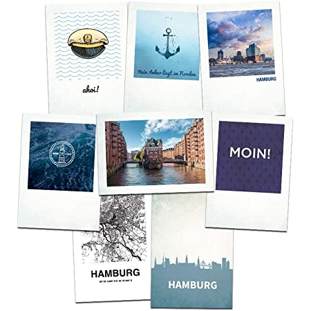Greeting Card Origami Ship A6 300g White Ahoi Postcard
