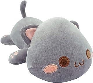 "Cute Kitten Plush Toy Stuffed Animal Pet Kitty Soft Anime Cat Plush Pillow for Kids (Gray A, 12"")"