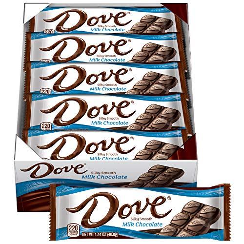 DOVE Milk Chocolate Singles Size Candy Bar 1.44-Ounce Bar 18-Count Box