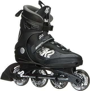 K2 Skate Men's Kinetic 80 Pro Inline Skate, Black White, 12