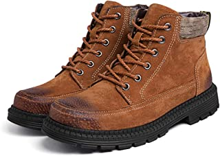 Bitifang Mens Combat Military Work Construction Fire Safety Casual Timberland Fit Perfectly Waterproof Boots
